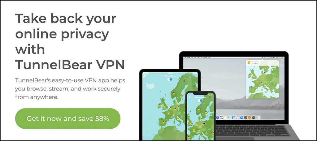 TunnelBear free VPNs