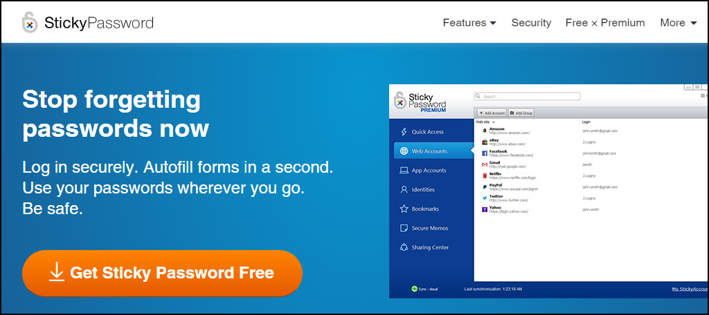 Sticky Password password manager