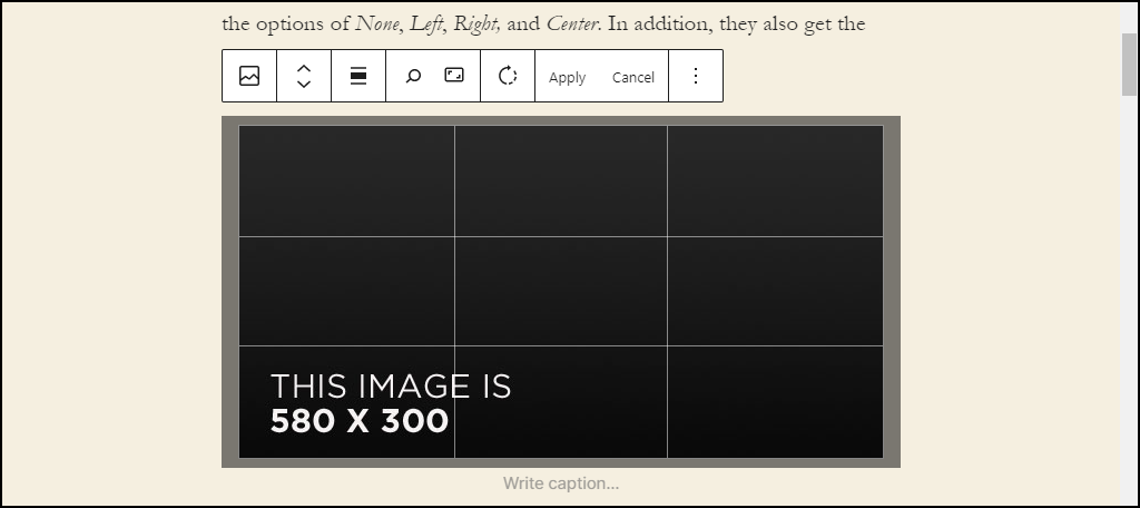 WordPress 5.5 image editing options