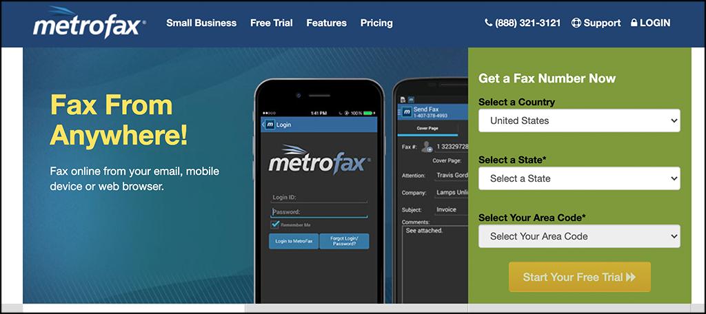 MetroFax online fax services