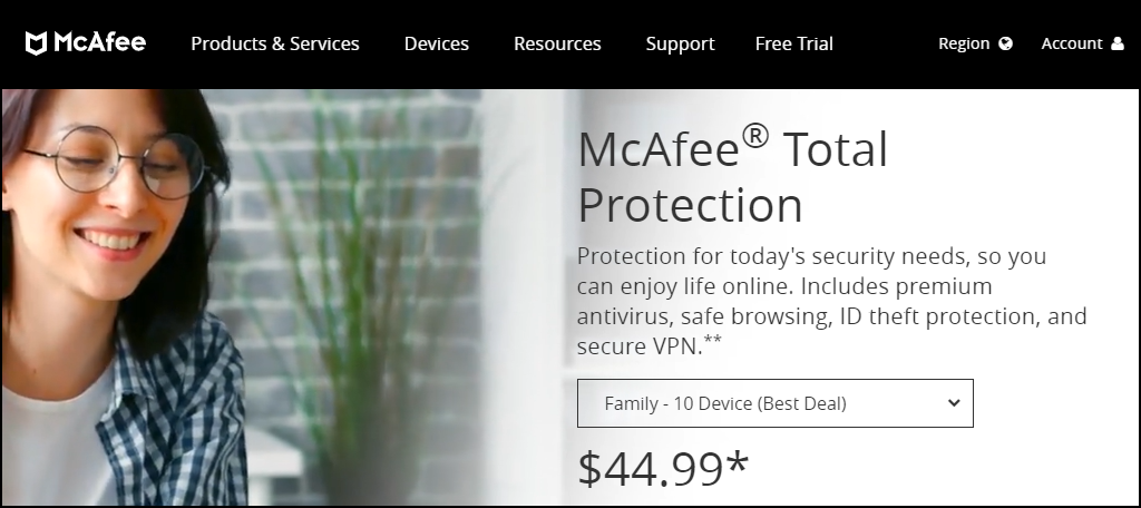 McAfee Total Protection Multi-Device