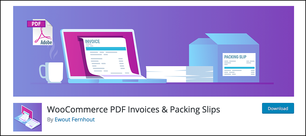 PDF invoices and packing slips plugin