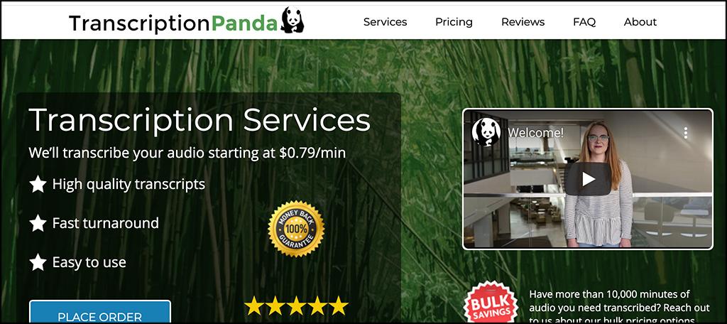 Transcription Panda transcription services