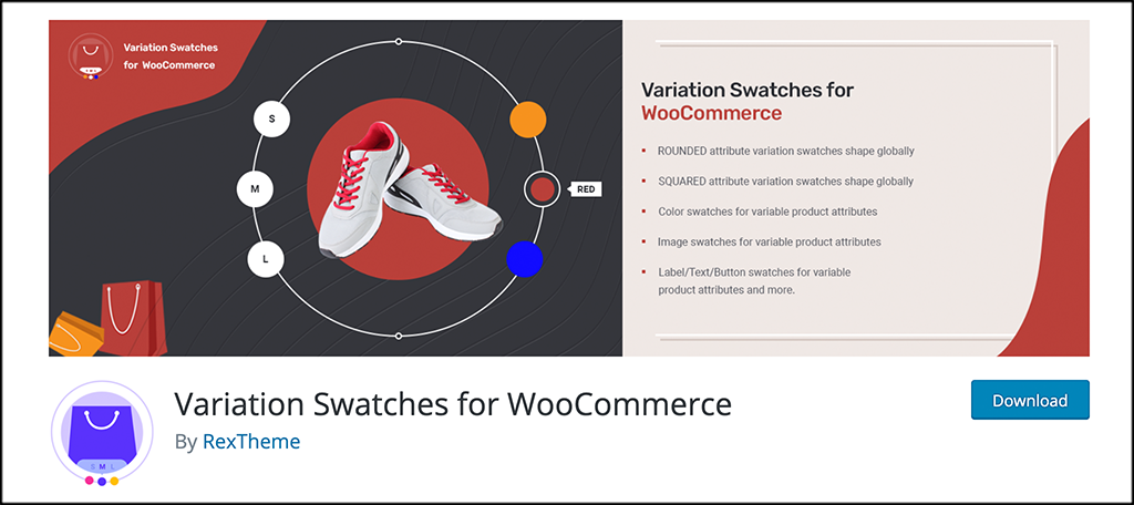 Free woocommerce plugins variation swatches