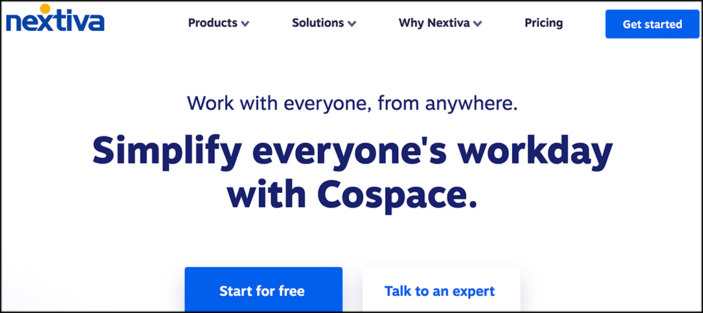 Nextiva online collaboration software