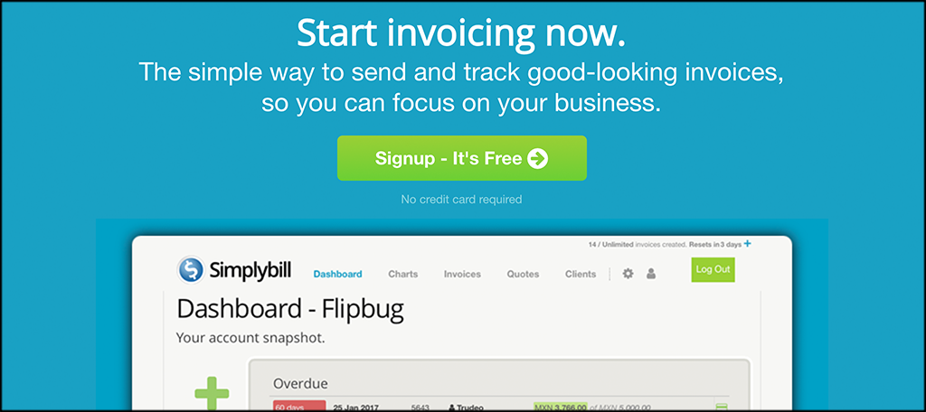 Simplybill invoicing software