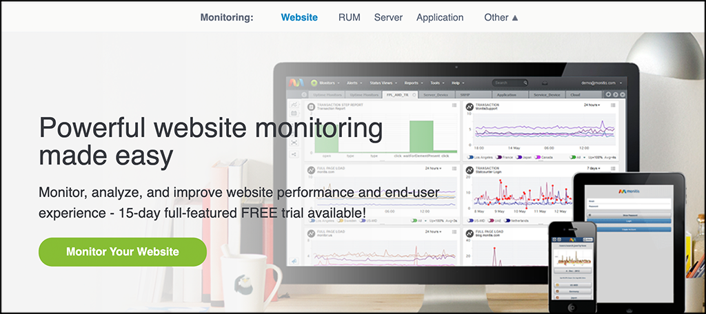 Monitis website monitoring services