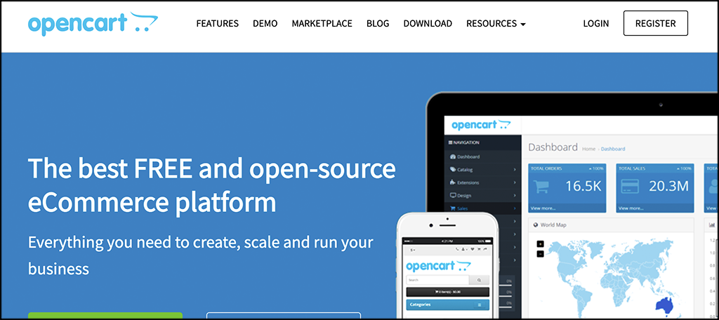 OpenCart eCommerce software