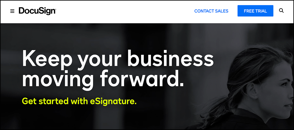DocuSign contract management software