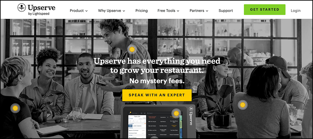 Upserve inventory management software