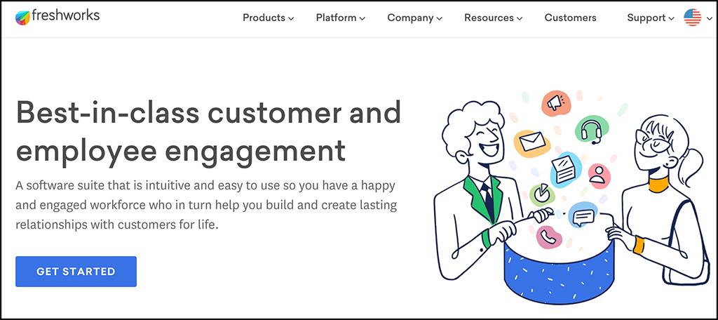 Freshworks lead management software