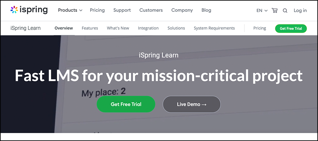 iSpring learn LMS online learning business