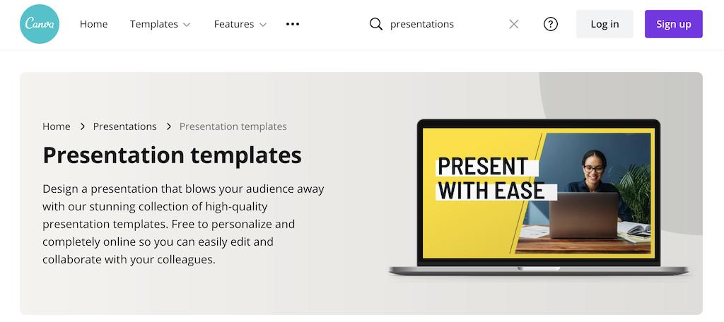 Canva presentation software