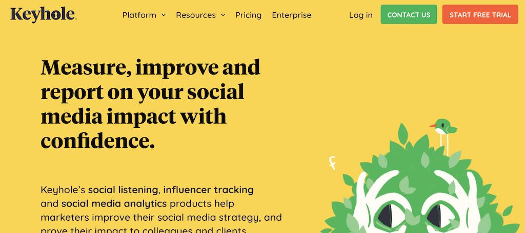 Keyhole social media analytics tools