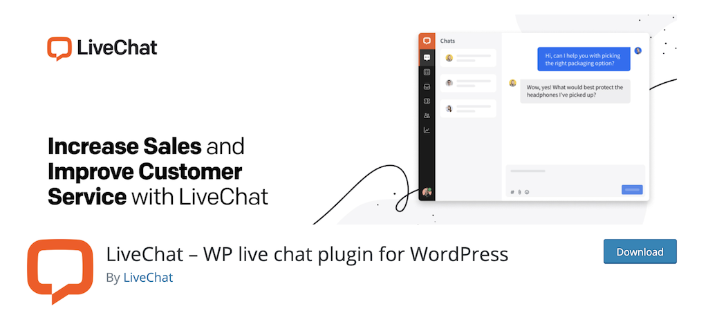 LiveChat business plugins for wordpress