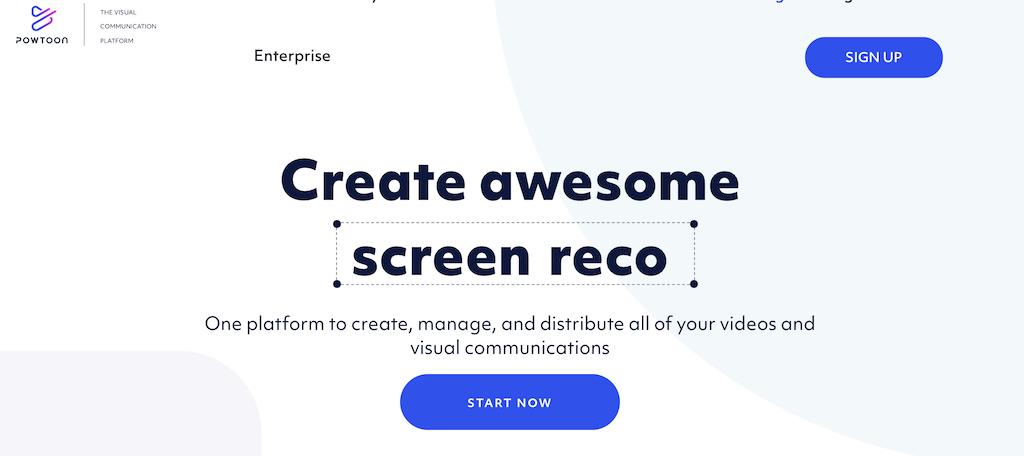 Powtoon presentation software for video