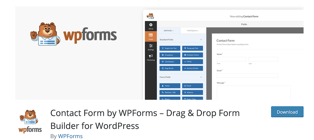 WP Forms wordpress plugins for business