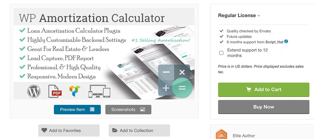 WP Amortization Calculator