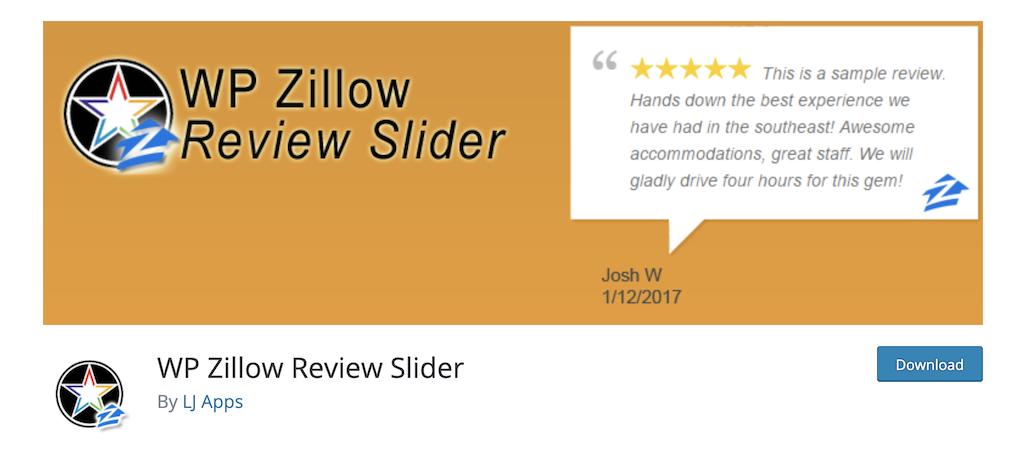 WP Zillow Review SLider real estate widget plugin