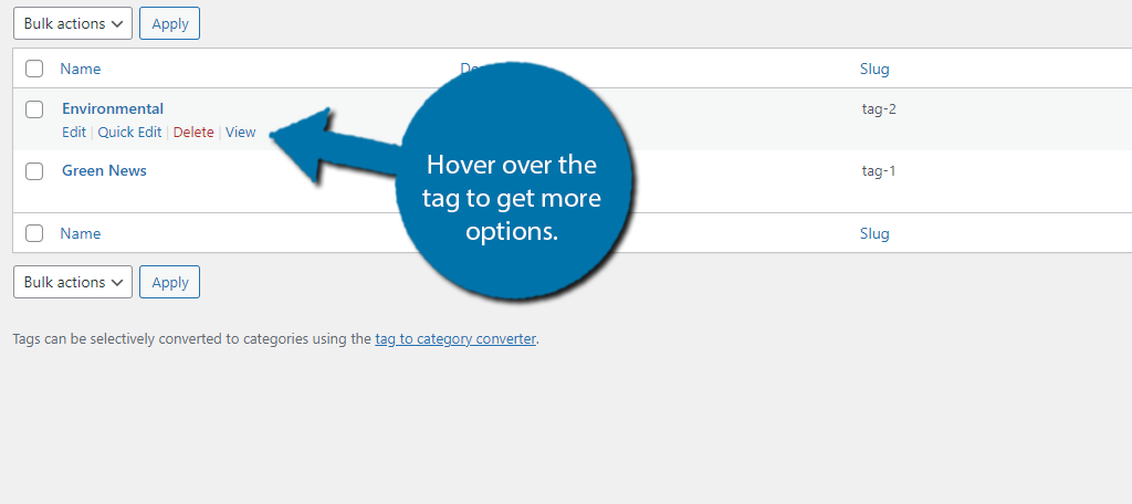 Hover Tags