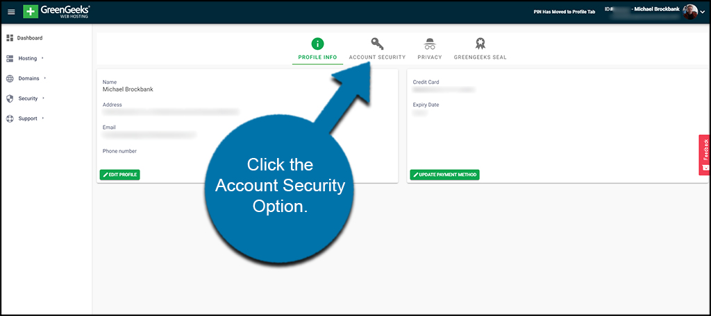Account Security Option