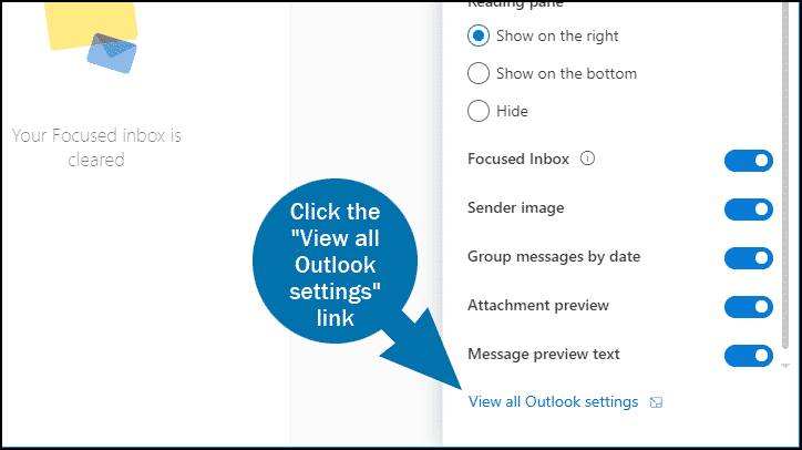 Outlook email whitelist step 2