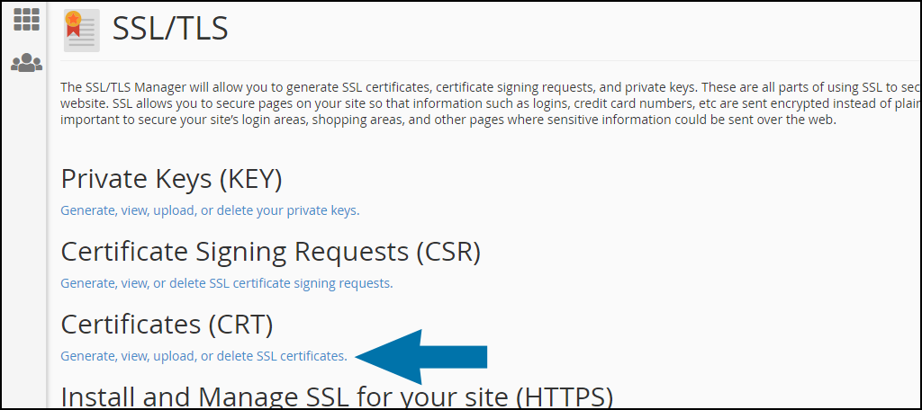 cPanel SSL cert installation part 1