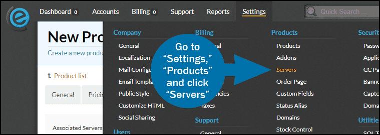 clientexec how to add a server step 1
