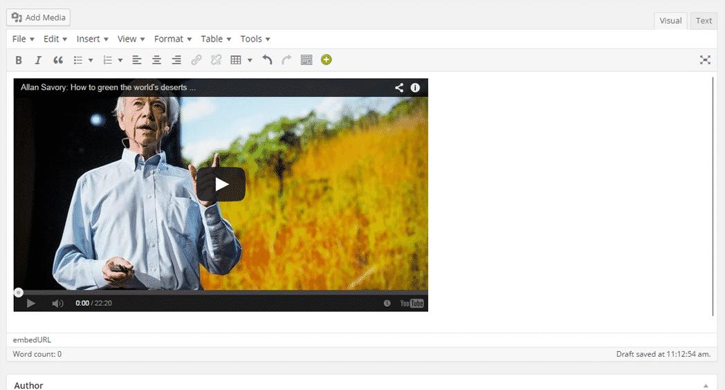 WordPress 4.0 Media Embed