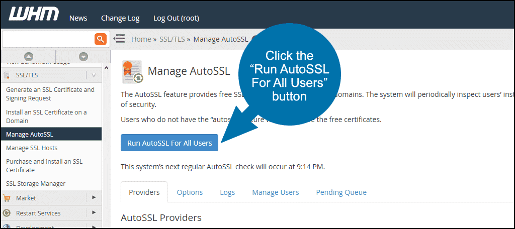WHM enabling AutoSSL step 4