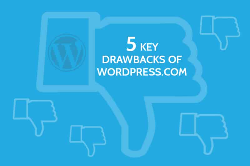 wordpress.com drawbacks