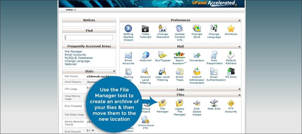 moving wordpress files