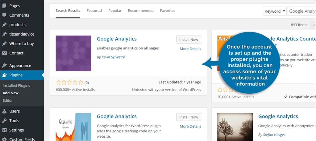 google analytics for wp