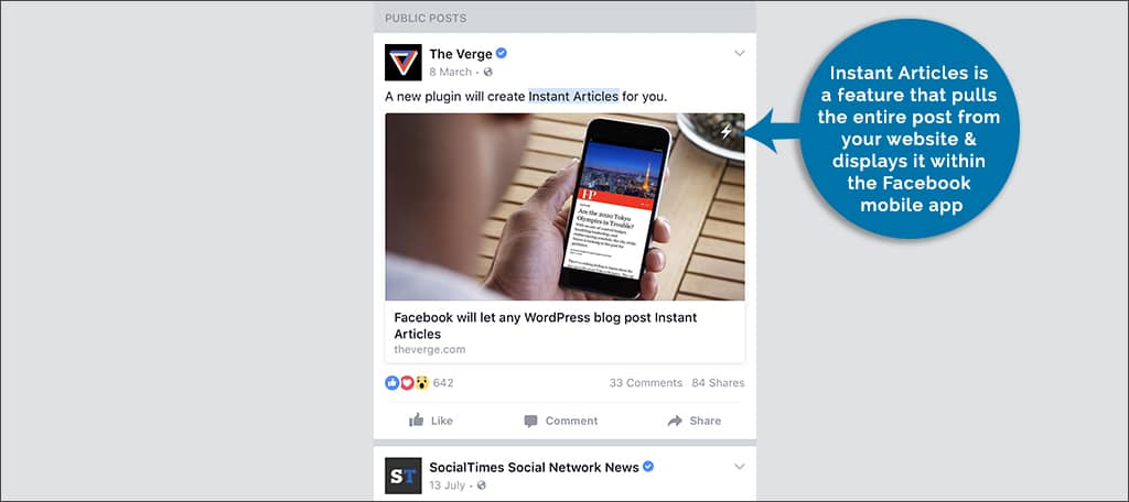 what is Facebook instant articles