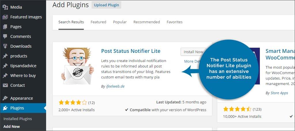 post status notifier lite