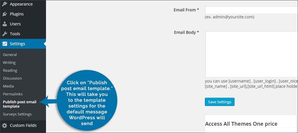 publish post