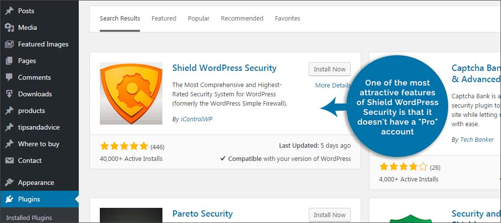shield wordpress