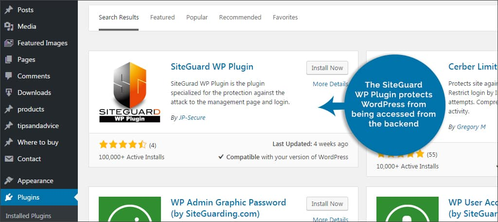 siteguard WP plugins for you securing wordpress - siteguard - Plugins For You Securing WordPress