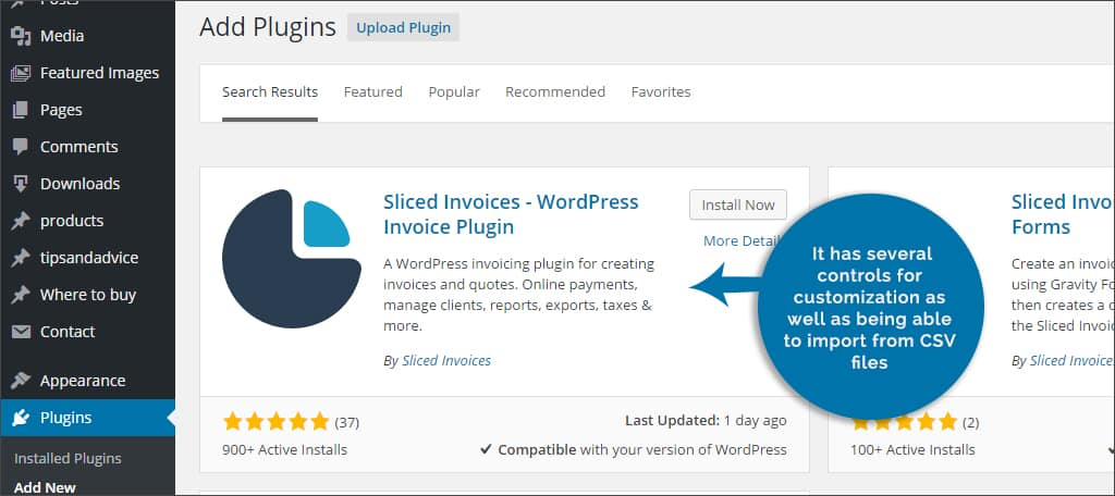 slices invoices