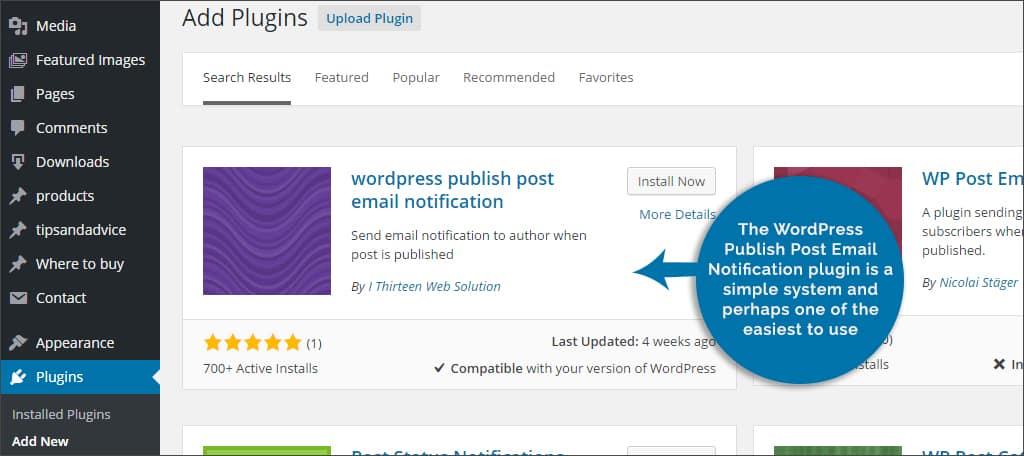 wordpress email notifications plugin
