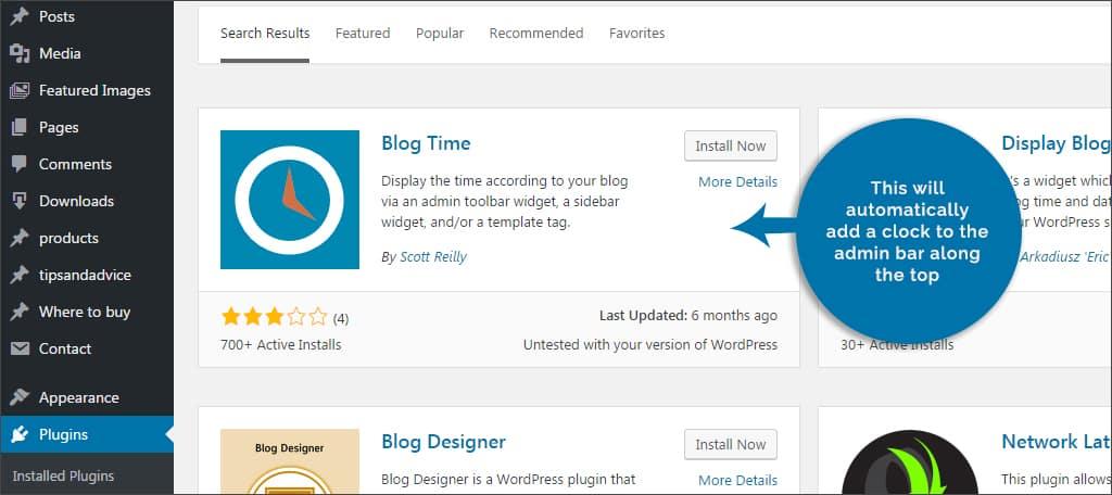 blog time plugin