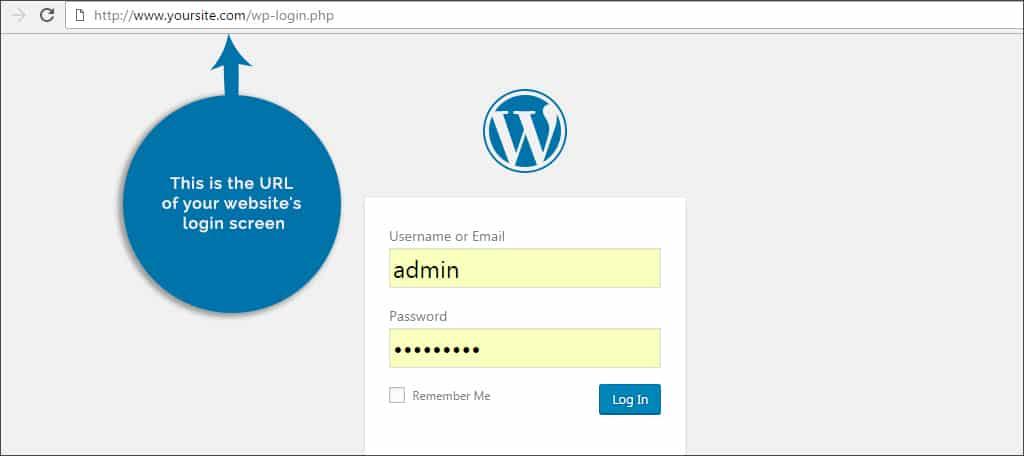 login screen url