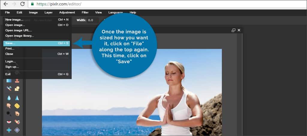 pixlr image save