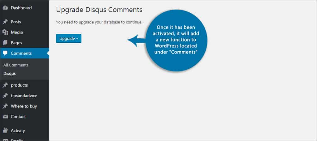 upgrade disqus comment