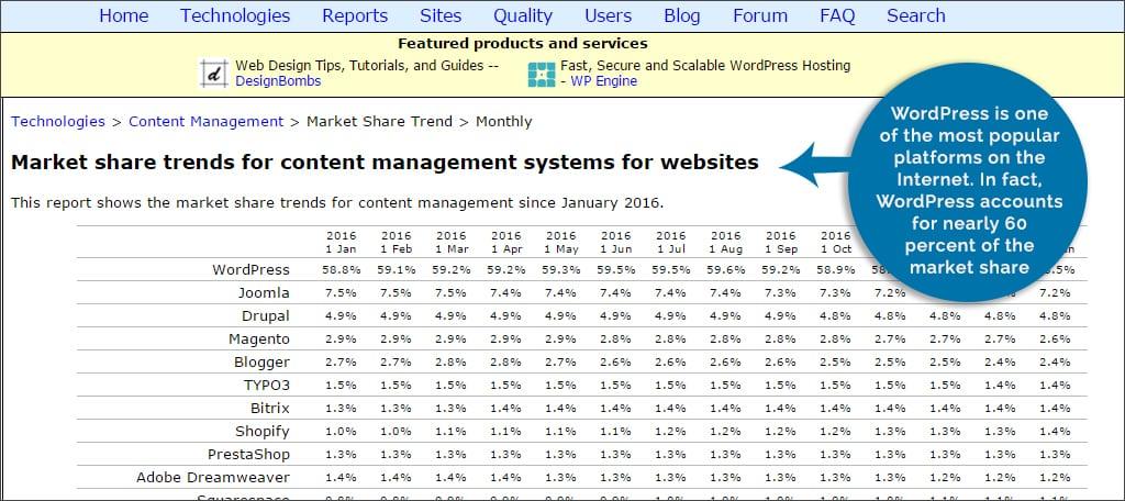 wordpress marketing share
