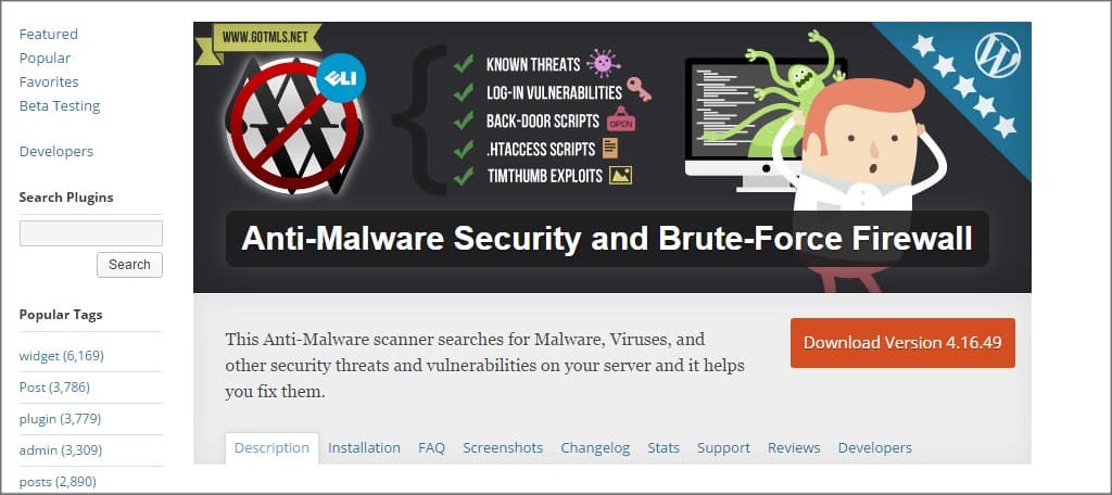 Anti-Malware Security Plugin