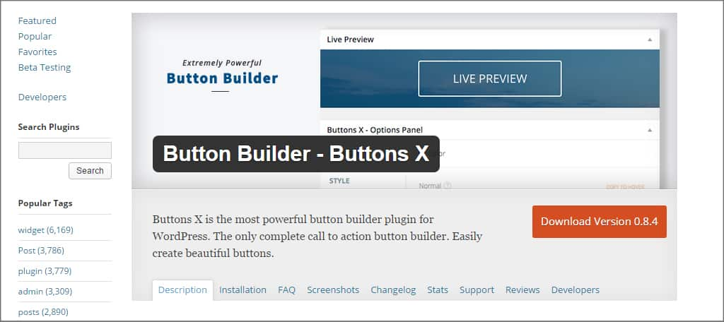 Button Builder Plugin