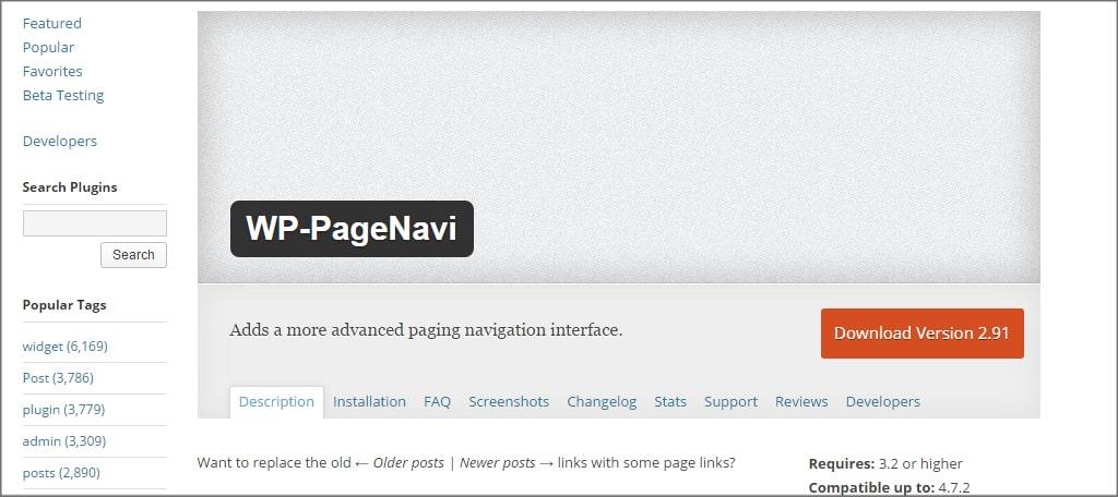 PageNavi Plugin