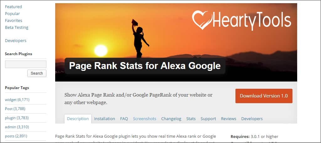 Page Rank Stats Alexa Google
