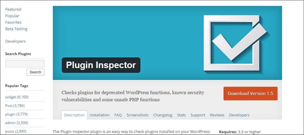 Plugin Inspector